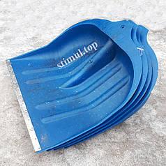 Лопата снеговая пластиковая 49х49 см / ИЗ ПЕРВ. СЫРЬЯ / Снегоуборочная / Лопата для снігу з держаком