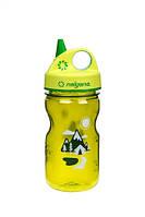 Пляшка для води дитяча Nalgene Grip-n-Gulp Зелена Trail Art. 350 мл.