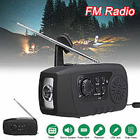 Cолнечное зарядное устройство с фонариком и FM-радио, динамо-машиной