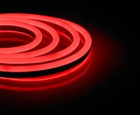 Светодиодный гибкий неон красный 3528 120 led/m 8w 220v влагозащищенная