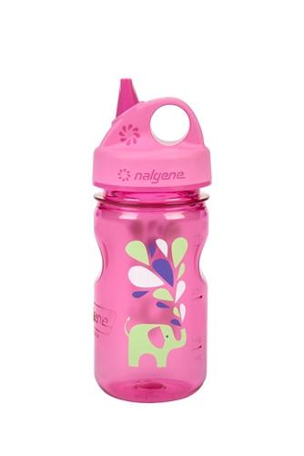 Пляшка для води дитяча Nalgene Grip-n-Gulp Розова Elephant Art. 350 мл.