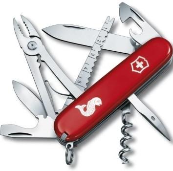 Складной качественный нож Victorinox Angler 13653.72 красный