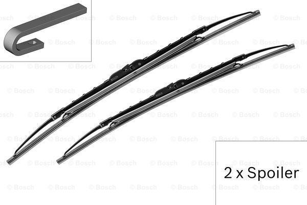 Щетки стеклоочистителя каркасные BOSCH Twin Spoiler 680х680мм, MB S-Class (W220, C215)