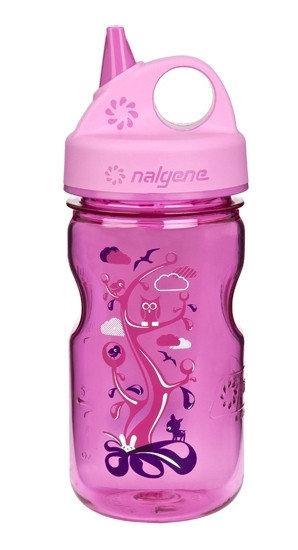 Пляшка для води дитяча Nalgene Grip-n-Gulp Розова Woodland Art. 350 мл.