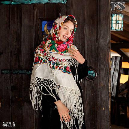 Настоящий белый платок шерстяной Украинский, фото 2