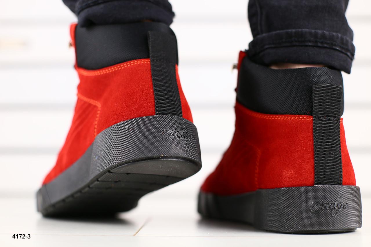 de9f79ad ... Мужские зимние ботинки размеры: 40-45 цвет: красные Материал: натуральная  замша утеплитель