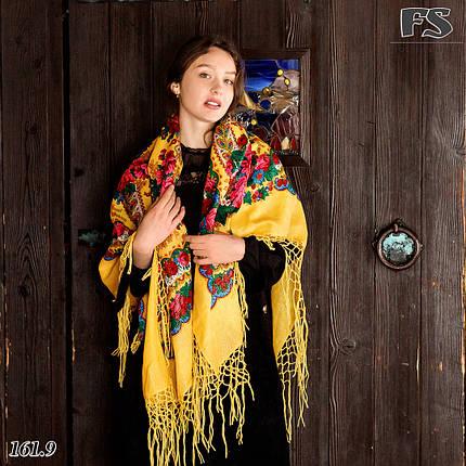 Хустка Українська вовняна справжня з люрексом (парчею), фото 2