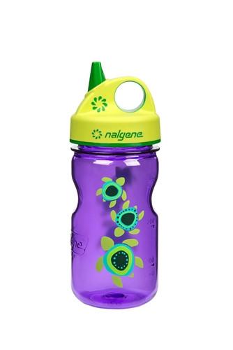 Пляшка для води дитяча Nalgene Grip-n-Gulp Фіолетовий Turtles Art. 350 мл.