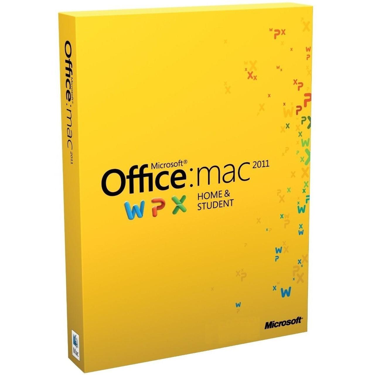 Microsoft Office Mac Home Student FamilyPK 2011 Russian DVD BOX (W7F-00022)