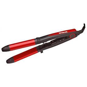 Утюжок Выпрямитель для волос с керамическим покрытием для укладки и завивки | Плойка 2в1 Vitalex VT-4025 CG24, фото 2