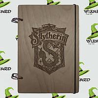 Деревянный скетчбук А5 Гарри Поттер Слизерин (мореное дерево), фото 1