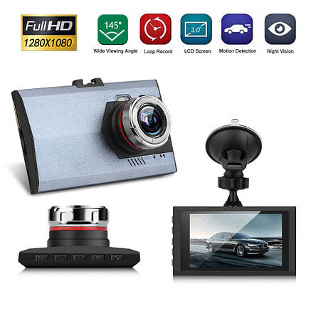 """Автомобильный видеорегистратор HD 238 экран 3"""" PR4, фото 2"""