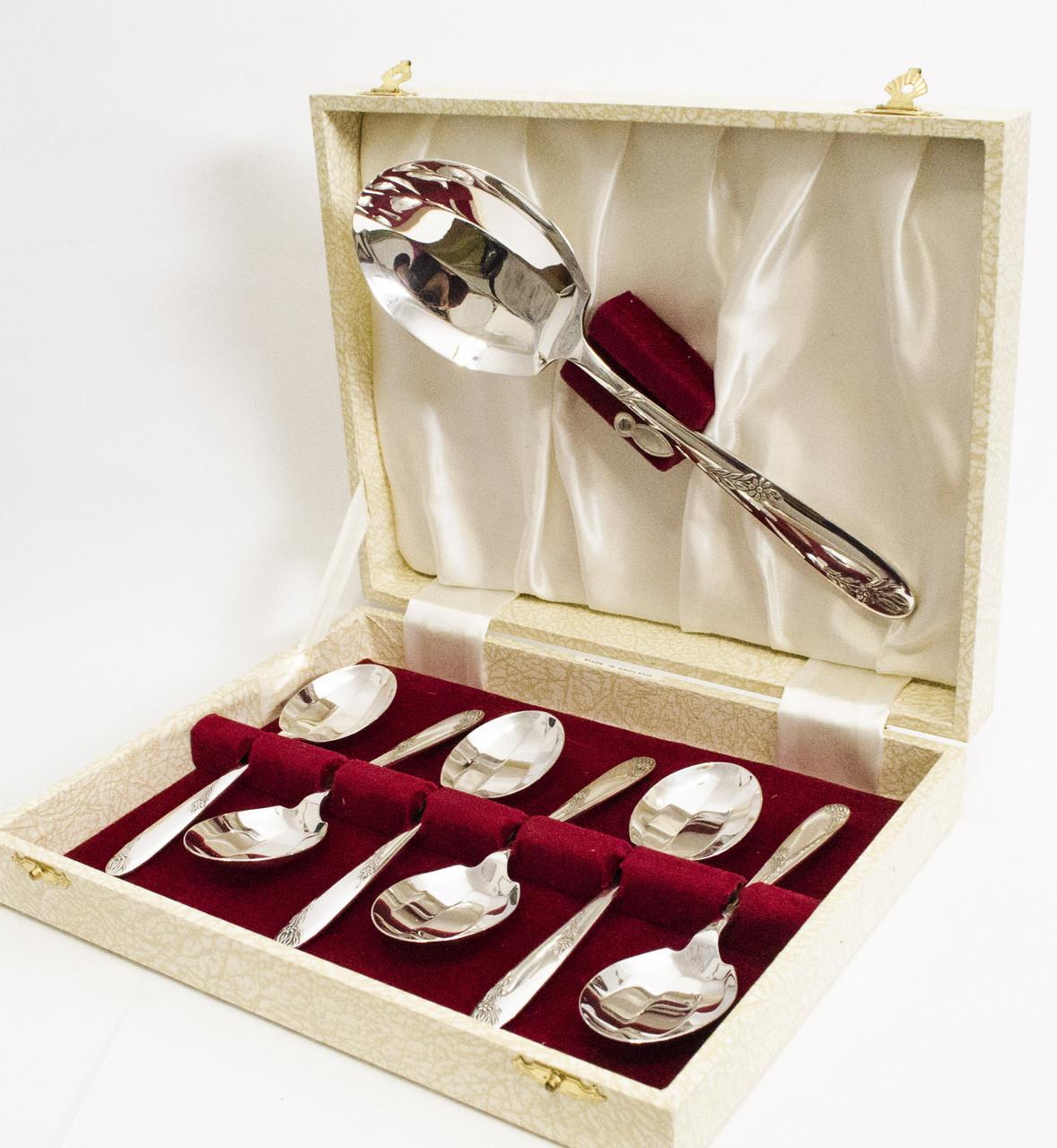 Набор для десертного стола, мельхиор, серебрение, Англия, ANGORA silverplateLTD