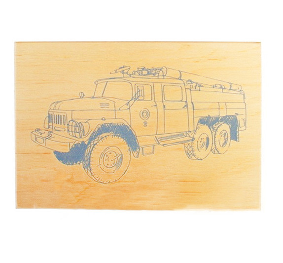 """Досточка для выжигания """"Пожарная машина"""" A5"""
