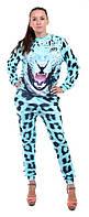 Костюм женский 3D Леопард мятный