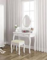 Туалетный столик с зеркалом и табурет, фото 1