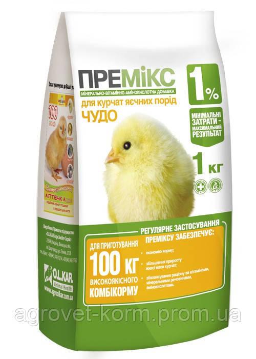 Премикс ЧУДО 1% цыплята,утята 10 кг