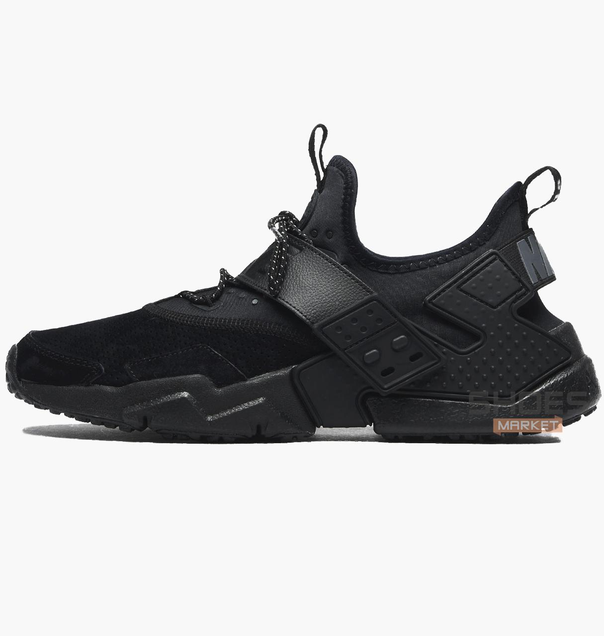Мужские кроссовки Nike Air Huarache Drift PRM Black AH7335-001, оригинал -  Интернет- 13976b25763