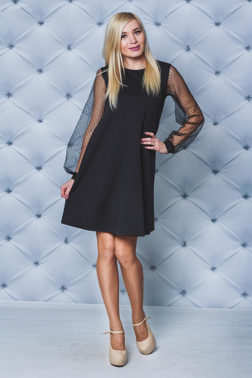 Женское платье А-силуэта черное