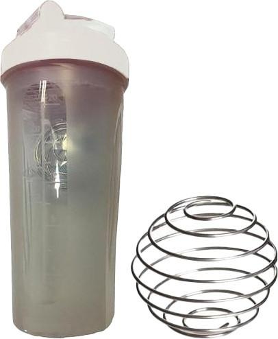 Шейкер спортивний Shake Bottle 700 мл. з вінчиком Прозоро-Білий