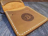 """Зажим для денег """"Bitcoin"""". Седельный шов. Ручная работа"""