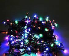 Светодионая Гирлянда нить 501 led RGB разноцветная (черный провод), фото 2