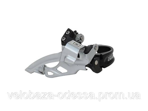 Переключатель пер. SHIMANO FD-M615 DEORE нижний хомут, универсальная тяга, адаптер 31.8мм, 38/44T, black, фото 2
