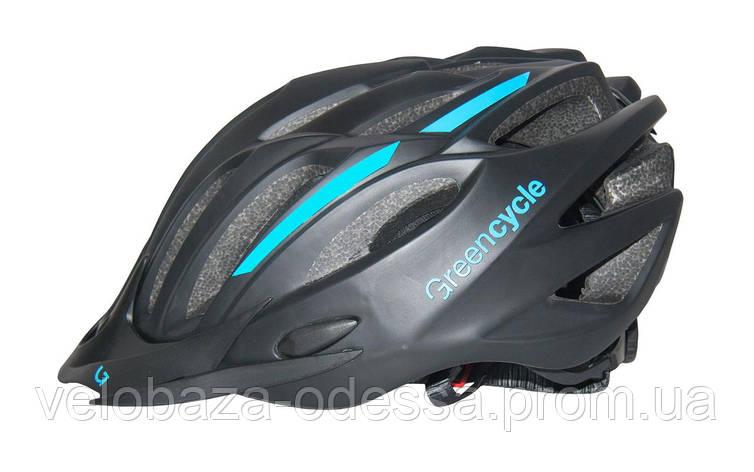 Шлем Green Cycle Rock размер 54-58см черно-синий, фото 2