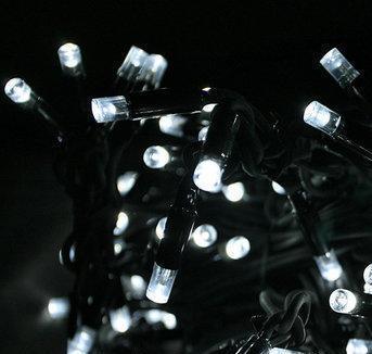 Светодионая Гирлянда нить 301 led Белая (черный провод)