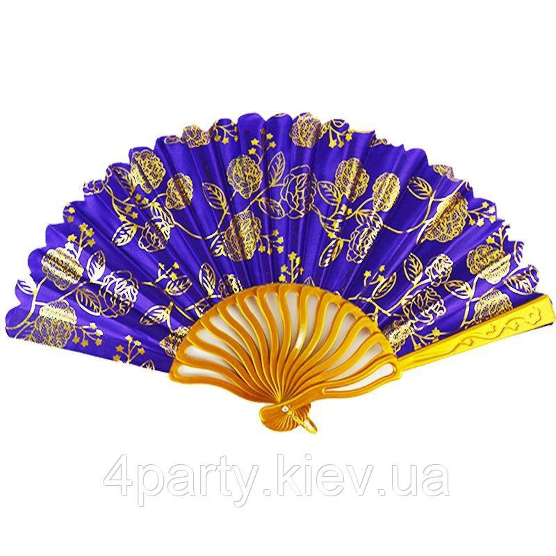 Веер фиолетово-золотой 131218-008