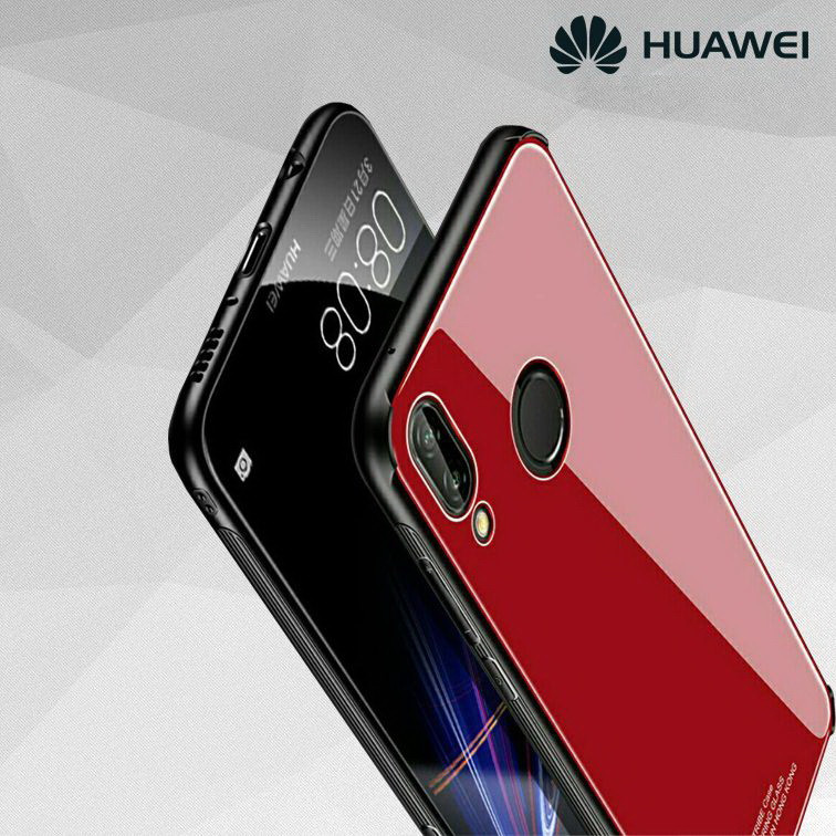 "Накладка Huawei P Smart + ""Glass Case"" Красная"
