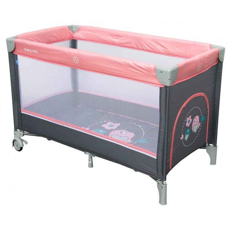 Манеж-кровать Baby Mix Горобчики HR-8052 186 pink розовый (цвета в ассортименте)