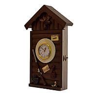 """Ключница  настенная, деревянная - """" Охотничий домик """""""