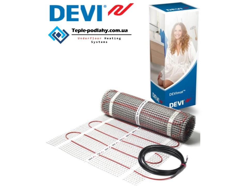 Экранированный кабель в мате  для теплого пола (нагревательный мат) DEVIcomfort 10 м.кв  1500 вт