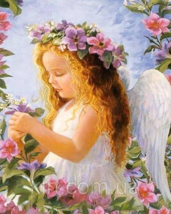 Алмазная мозаика Ангельский ребенок 40 х 30 см (арт. FS836)