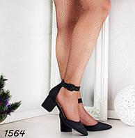 Открытые женские туфли на не большом каблуке р. 36, фото 1