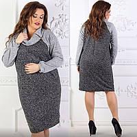Теплое платье батал оптом в Украине. Сравнить цены 12c7b36556cc1