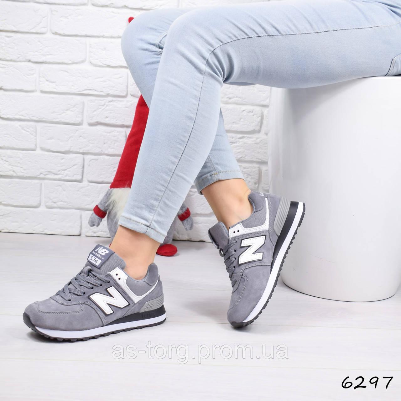 302e6c66b Кроссовки Женские New Balance Серые 6297, Спортивная Обувь — в Категории