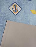 Рулонні штори Дитячі Блекаут Моряки D-069 блакитний Швеція, фото 3