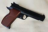 Пневматический пистолет SAS P210 Legend Blowback Black, фото 2