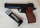 Пневматический пистолет SAS P210 Legend Blowback Black, фото 4