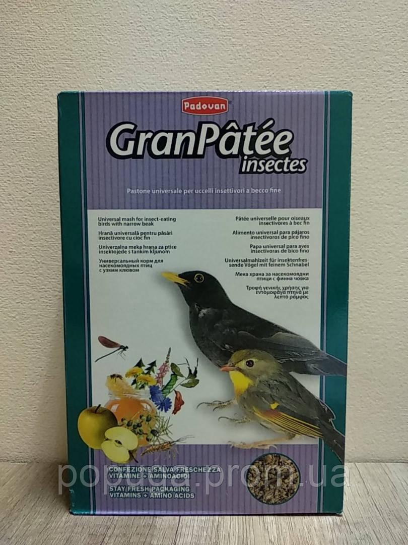 Корм для насекомоядных птиц GranPatee insectes Padovan, 1кг до 20.06.20