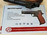 Пневматический пистолет SAS P210 Legend Blowback Black, фото 8