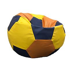 Кресло мешок мяч PufOn, Экокожа  XL (90 см) Желтый, Оранжевый, Черный