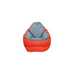 Кресло мешок груша PufOn, Оксфорд Оксфорд, XXXL, Красный, Серый