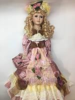 """Кукла фарфоровая сувенирная, коллекционная 50 см """" Маргарита """""""