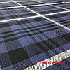 Синяя льняная ткань в клетку, 100% лен, цвет 1/1, фото 4