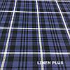 Синя лляна тканина в клітку, 100% льон колір 1/1, фото 3