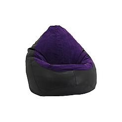 Кресло мешок PufOn, Гибрид L, Черный, Фиолетовый