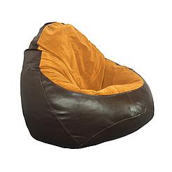 Кресло мешок PufOn, Гибрид L, Шоколад, Оранжевый